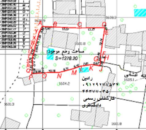 نمونه نقشه یو تی ام در سازمان ثبت اسناد