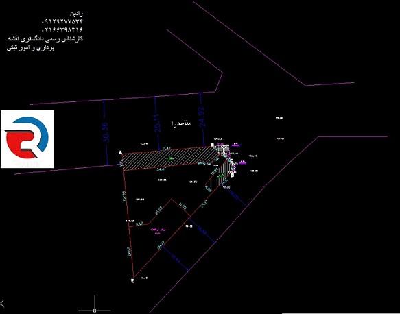 تهیه نقشه utm با کد ارتفاعی برای شهرداری در منطقه 22 تهران